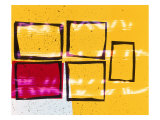 Abstract Image in Yellow and Magenta Giclee Print by Daniel Root