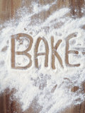 Word Bake in Flour Photographic Print by Neil Overy