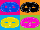 Four Mardi Gras, Halloween Mask Photographic Print by EJ Carr