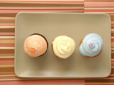 Three Cupcakes Photographic Print by Tina Chang