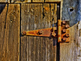 Close-Up of Rusted Door Hinge Photographic Print by Diane Miller