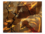 Abstract Image in Brown, Black, and Red Giclee Print by Daniel Root
