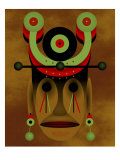 War Mask Giclee Print by Rich LaPenna