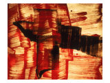 Abstract Image in Red, Yellow, and Black Giclee Print by Daniel Root