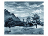 Secluded Barn in Meadow Giclee Print by Rich LaPenna