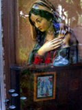 Bust of Maria Viewed Through Window Photographic Print by Winfred Evers