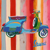 Pop Vespa II Print by Valerio Salvini
