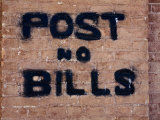 """Post No Bills on Brick Wall"" at Million Dollar Lincoln County Courthouse, Pioche, Nevada Photographic Print by Deon Reynolds"