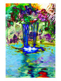 Exotic Quiet Pool Giclee Print by Rich LaPenna