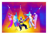Iridescent Ragtime Band Giclee Print by Rich LaPenna