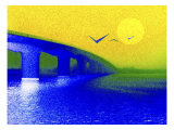 Sunrise over the Bridge Giclee Print by Rich LaPenna