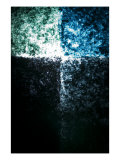 Abstract Image in Blue and Green Giclee Print by Daniel Root
