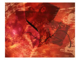 Abstract Image in Red Giclee Print by Daniel Root
