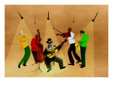 Ragtime Band Giclee Print by Rich LaPenna