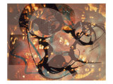 Abstract Image in Yellow, Black, Brown, and Red Giclee Print by Daniel Root
