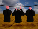See No Evil, Speak No Evil, Hear No Evil in a Surrealist Theme Fotografie-Druck von Abdul Kadir Audah