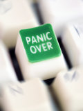 Computer Key Which Reads Panic Over Photographic Print by Neil Overy