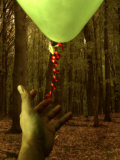 Hand Reaching for Balloon in Forest Photographic Print by Abdul Kadir Audah