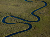 Aerial of a River Snaking Through the Okavango Delta Photographic Print by Beverly Joubert
