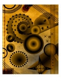 Abstract Image of Circles and Stars Giclee Print by Rich LaPenna