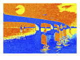 Sailboats Sailing under Bridge Giclee Print by Rich LaPenna