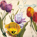 Summer Tulips Art by Antonio Massa