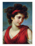 Portrait of Maguerite Porporati, 1792 Giclee Print by Elisabeth Louise Vigee-LeBrun