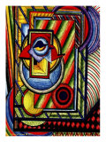Abstract Sleepy Eye Peers from Doorway Giclee Print by Rich LaPenna