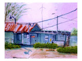 Old Fish House with Electricity Giclee Print by Rich LaPenna