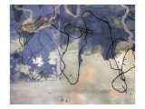 Abstract Image in Blue and White Giclee Print by Daniel Root