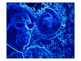 Abstract Image of Man in Blue Water Giclee Print by Rich LaPenna