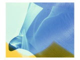 Abstract Image in Blue, Green, Yellow Giclee Print by Daniel Root