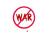 Symbol, No War with Drops of Blood Giclee Print by Rich LaPenna