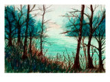 Tranquil River Scene Giclee Print by Rich LaPenna
