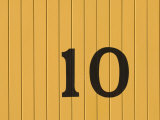 Number Ten on the Side of a Historic Trolley Car Photographic Print by John Nordell