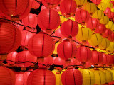 Paper Lanterns Hung Up During Annual Lantern Festival in Taipei Photographic Print by  xPacifica
