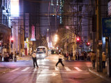 People Walking Through the Streets of Downtown Puxi at Night Photographic Print by  xPacifica