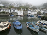 Foggy View in Polperro, a Small Fishing Village Photographic Print by Jim Richardson