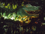 Crowds Surround an Alligator Float in the Mardi Gras Parade Photographic Print by Joel Sartore