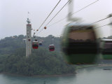 Cable Cars That Connect Sentosa Island with Singapore Photographic Print by  xPacifica