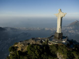 Christ the Redeemer Statue Above Botafogo Beach and Bay Photographic Print by Joel Sartore