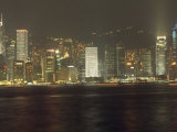 Hong Kong Harbor Seen from Victoria Harbor Photographic Print by  xPacifica