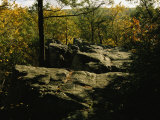 Fall Foliage and Boulders on the Appalachian Trail Photographic Print by Raymond Gehman