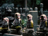 Buddhist Burial Tombstones with Cloaks Photographic Print by Martin Gray