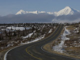 Richardson Highway and the Alaska Range, Alaska Photographic Print by Michael S. Quinton