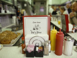 Customers Sit at the Counter at This Traditional American Diner Photographic Print by  xPacifica