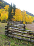 Wooden Fence in the Mountains of Colorado Photographic Print by David Edwards