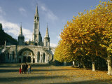 Basilica of the Immaculate Conception in Lourdes Photographic Print by Martin Gray