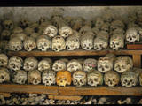 Some of the 600 Skulls at the 'Bone House,' Dated from 1720-1995 Photographic Print by Martin Gray