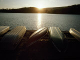 Boats Along the Shore of Lake Perez at Sunset Photographic Print by Lynn Johnson